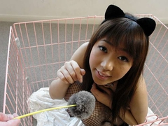 Beautiful Shiori Aiuchi Is The Favorite Pet Of Two Men - JapanHDV