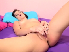 Hot Brooklyn Daniels has fun with a vibrator and enjoys some hard meat