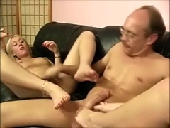 Old Geezer Has The Biggest Foot Fetish In The World (part 1)