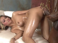 Sexy Latina Vanessa Leon Oiled Up And Fucked