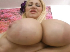 Samantha 38g and milfs shows their tits up to the size of melons