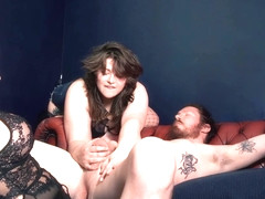 Estella Bathory & Adreena Winters Pegging A Guy Femdom Strapon Adult Toys Double Domme Pornstars