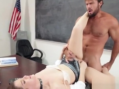 Naughty schoolgirl Kasey Warner gets rammed