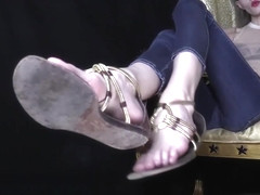 Goddess Kyaa - Cross-Eyed Hottie with Stinky Fuck-Me Sandals