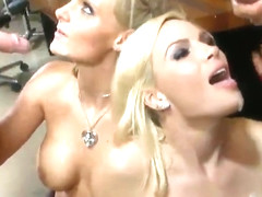 Phoenix Marie and Diamond Foxxx in breathtaking butt fuck group sex action