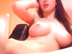 Big Tit Babe Rubs Tight Pussy On Webcam - Cams69.net