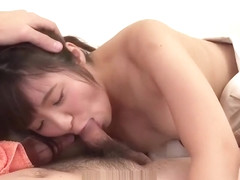 Female Asian amateur throats cock like a goddess