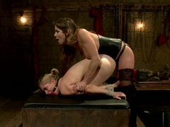 Blonde Gets Tied Up And Fucked In Dungeon