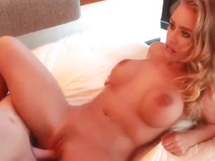 Romantic blonde presents hot sex action with her boy
