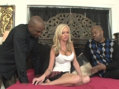 Hottest pornstar Kaylee Hilton in Incredible Interracial, Blonde sex clip