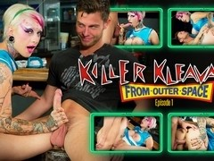 Jessie Lee & Seth Gamble in Killer Kleavage From Outer Space - Episode 1 Scene