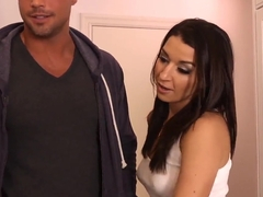 Ann Marie Rios bangs a handsome fellow in the kitchen
