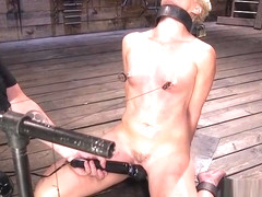 Blonde Milf gets nipples tortured