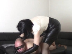 My nylon slave (Throttling and bagging)