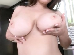 Two sexy college girls with big tits play...