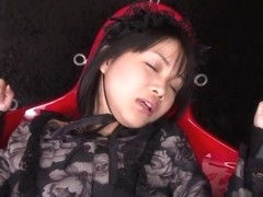 Hardcore insertions - Momose Hikaru stuffed with crazy toys