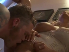 Heavenly tattooed Stormy Daniels gives a classy blowjob