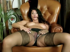 For explanation, toys pussy rips pantyhose plays brunette apologise, but