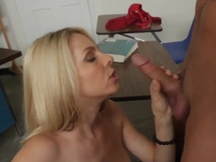 Hot MILF Angela Attison gives Kris Slater sex lessons